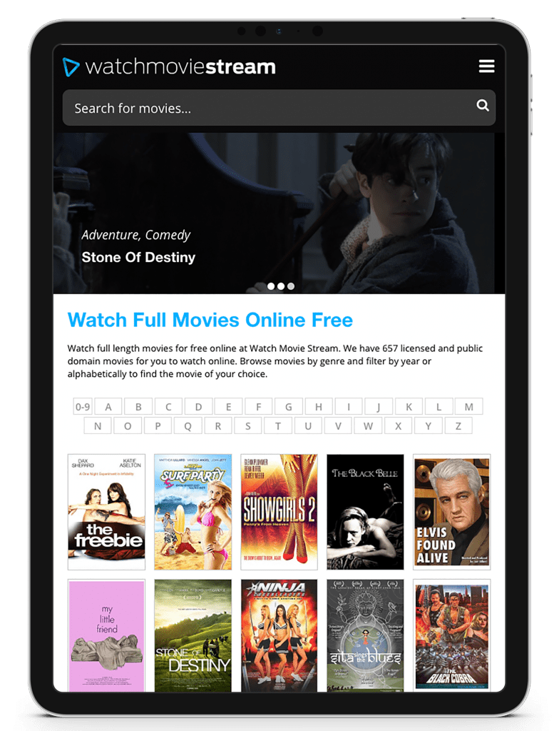 Watch Movie Stream - iPad