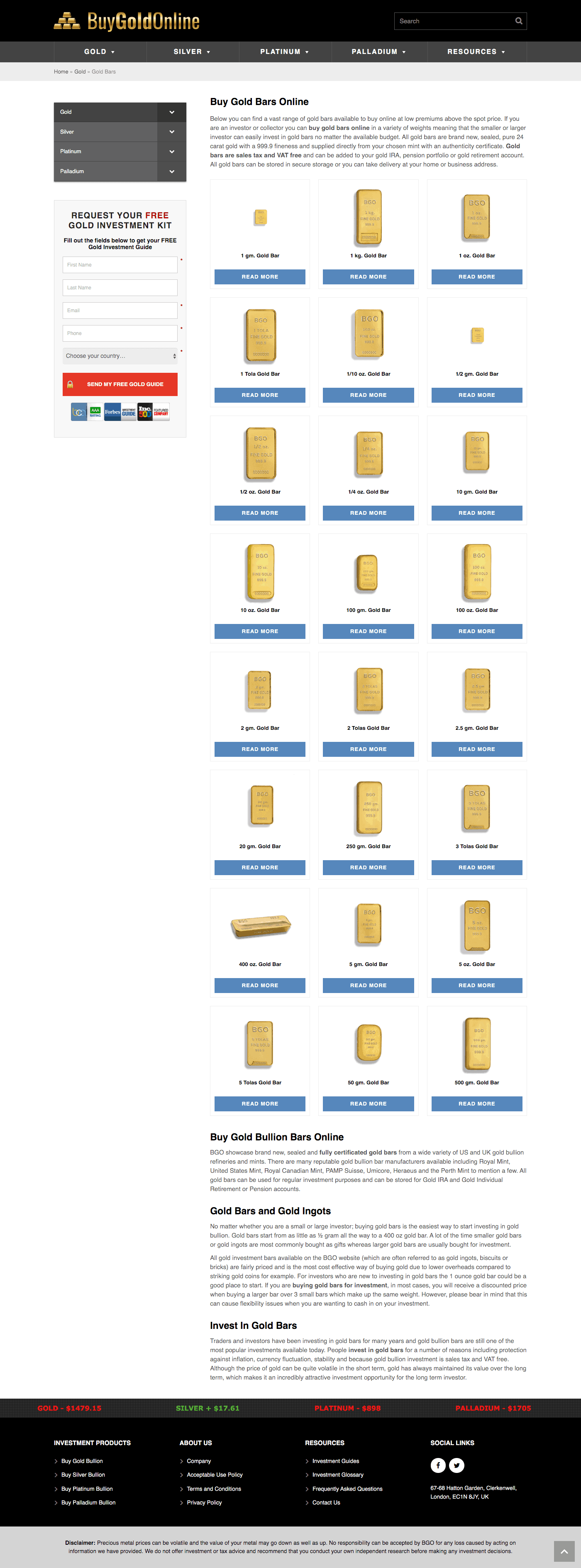 Buy Gold Online - Category