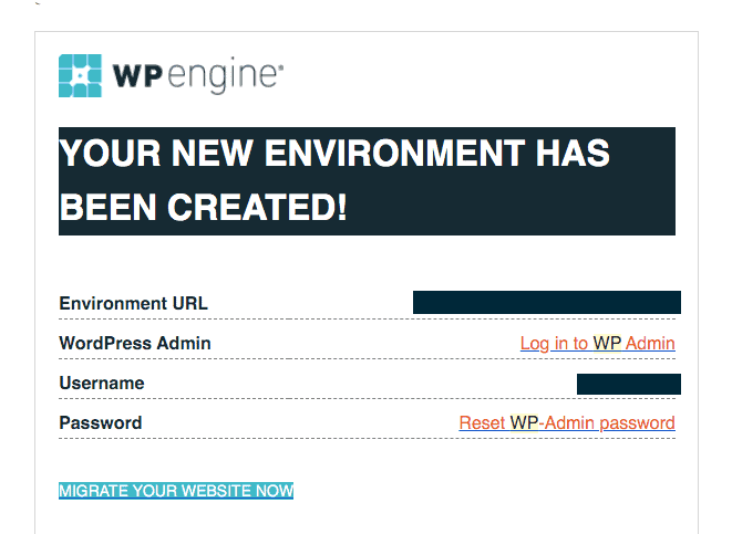 Welcome Email - WP Engine