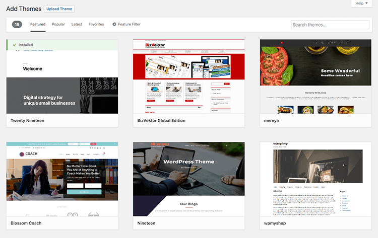 WordPress Website - Theme Repository