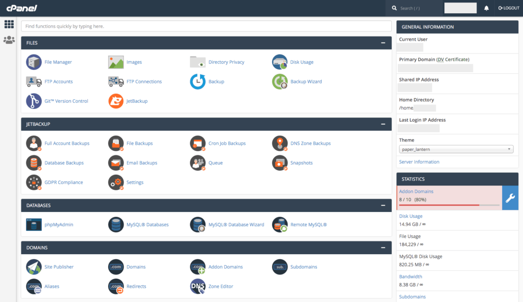 Stablepoint Hosting - Cpanel
